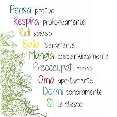 Nove regole per una vita felice ♥