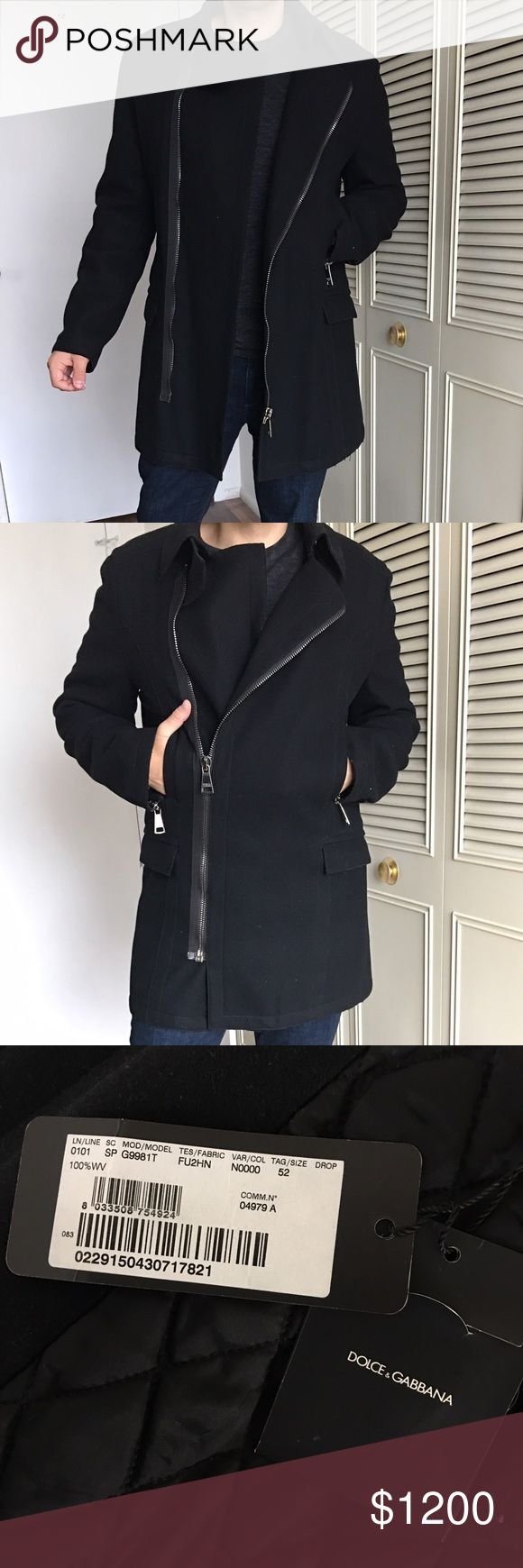 Dolce & Gabbana coat Authentic Dolce & Gabbana coat, black, tick and very warm perfect for winter, real elegant great for any occasion, size 52, it's one of my favorite items, always got compliments from it. Dolce & Gabbana Jackets & Coats