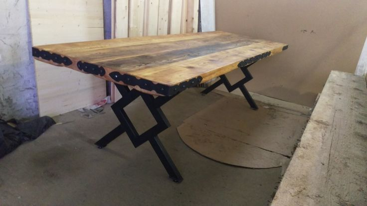 Recycled Old Wood Industrial Table !!!