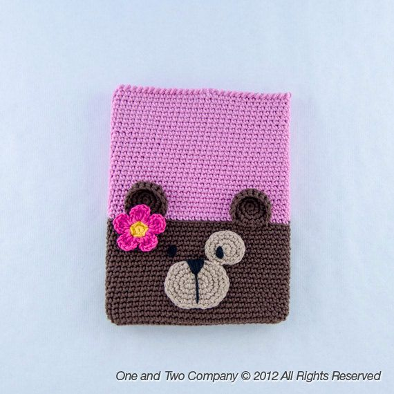 Instant Download -  PDF Crochet Pattern - Bear Ipad Case - Ipad Sleeve - Ipad Cover - Text instructions and SYMBOL CHART instructions