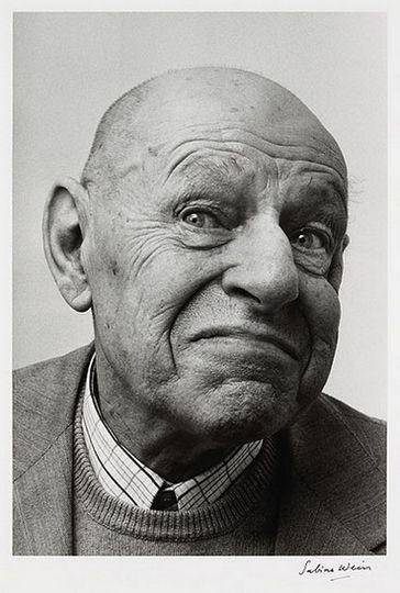 Dubuffet, 1979 by Sabine Weiss | Jean Dubuffet b&w photography artist portrait