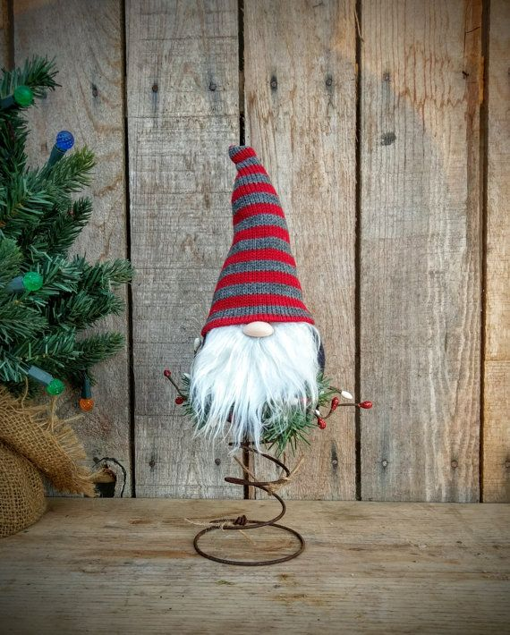 Gnome Christmas Tree Topper Bed Spring Christmas Nordic