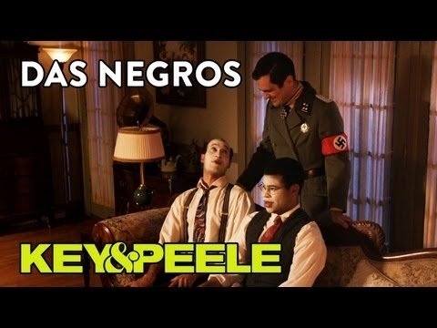 """In 1942 Germany, a Nazi colonel shows up looking for two escaped Negros.    Subscribe to Comedy Central's channel for more videos by clicking this: http://on.cc.com/ohkMav    Visit the official site: http://www.comedycentral.com/shows/key-and-peele/index.jhtml    Find the Show on Facebook - http://www.facebook.com/KeyAndPeele    """"Like"""" Comedy Central on..."""