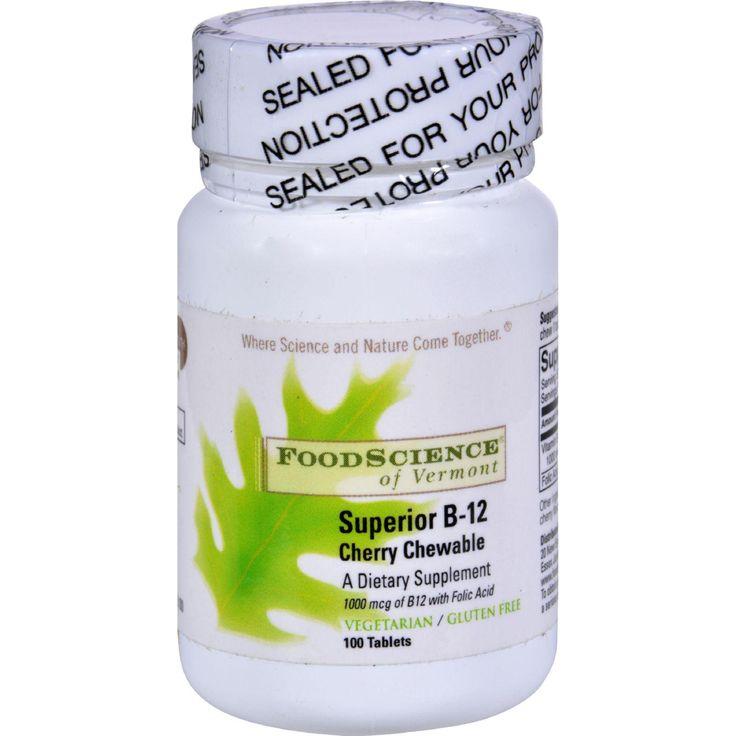 Foodscience Of Vermont Sublingual B12-mc - 100 Vegetarian Tablets