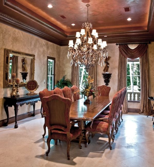 Fancy Dining Room dining tables Formal Dining Room I Absolutely Love The Wide Crown Molding The Color
