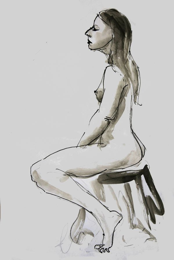 The perfection of imperfection - ARTiful: painting demos  Drawing by Anna du Bois