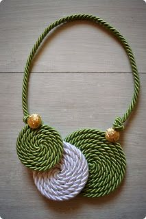 Nice cord necklace idea
