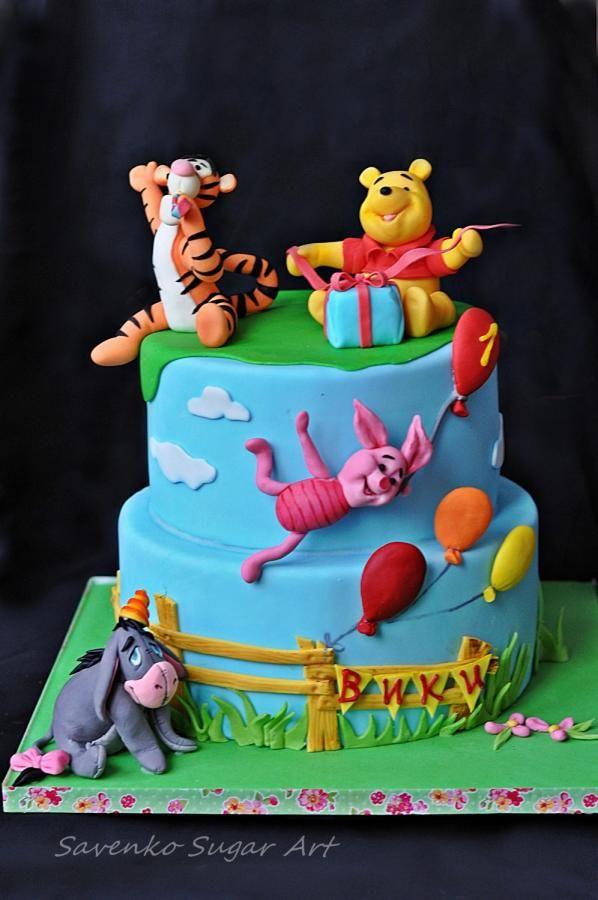 Winnie the Pooh birthday cake - Cake by Savenko Sugar Art