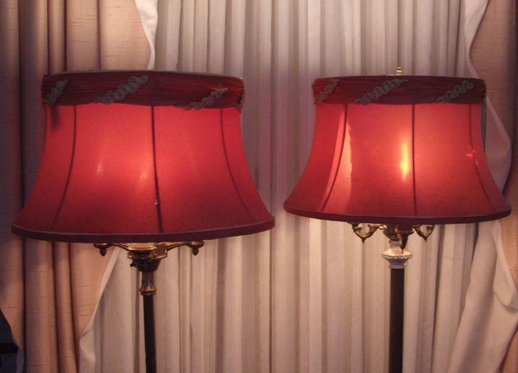 Antique Floor Lamp Bell Shade Repair Restore Lampshade