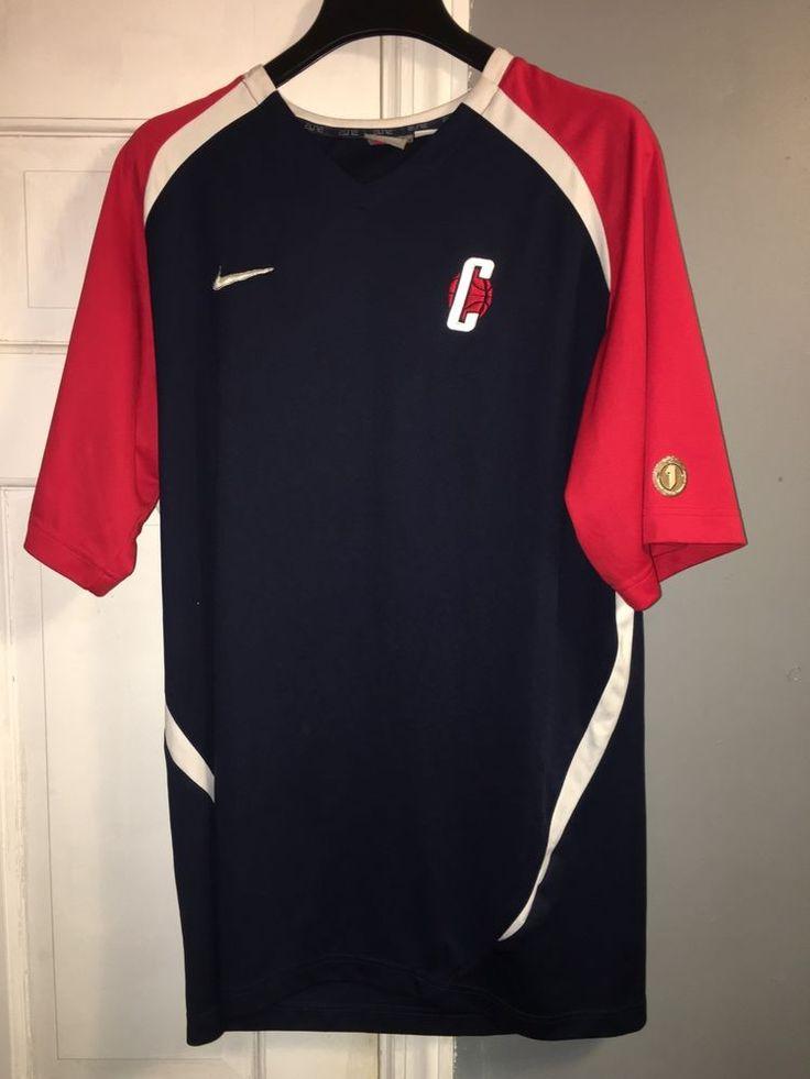 Nike University Of Connecticut Basketball V Neck Warm Up Shirt   | eBay