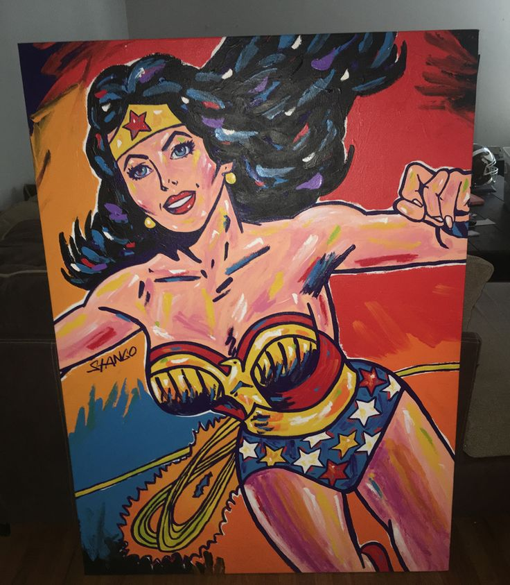 Wonder Woman 56x41 by John Stango - Acrylic on Canvas