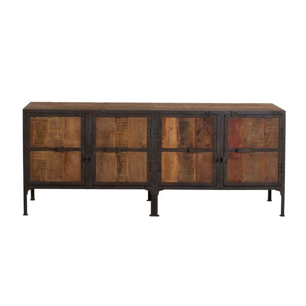 Claiborne Reclaimed Wood Console From Dot U0026 Bo   Replace Legs With Cool  Antique Industrial Wheels