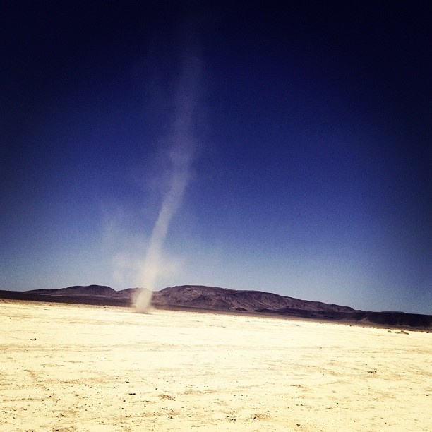 """Crazy weather not too far from home: Sand Tornados in the Desert."" - Andrew Gant, #Mashpics #Weather"