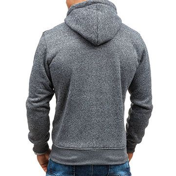 Fashion Mens Cashmere Cardigan Hoodie Sweater Casual Splicing Zipper Sport Hoodies at Banggood