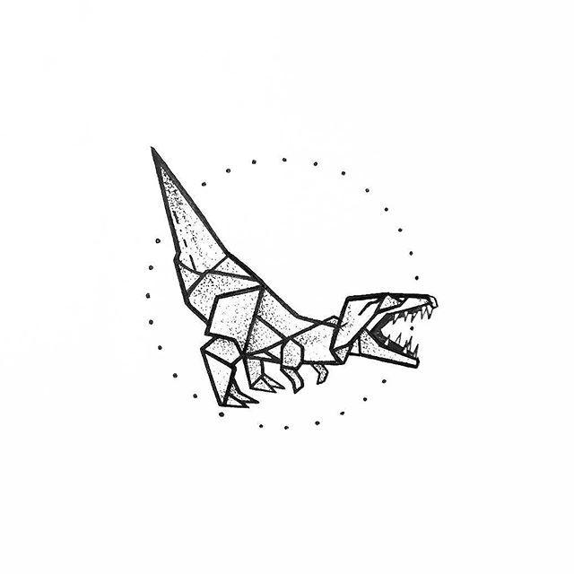 #Drawing #Tyrannosaurus #Tattoo #LineArt Illustration