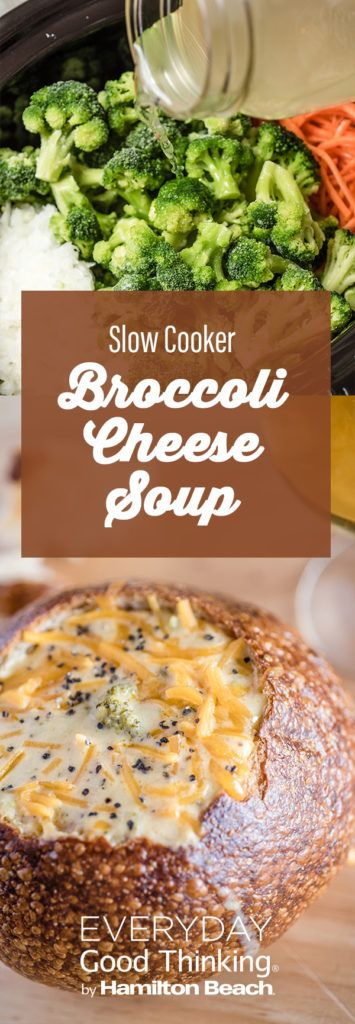 Slow Cooker Broccoli Cheese Soup