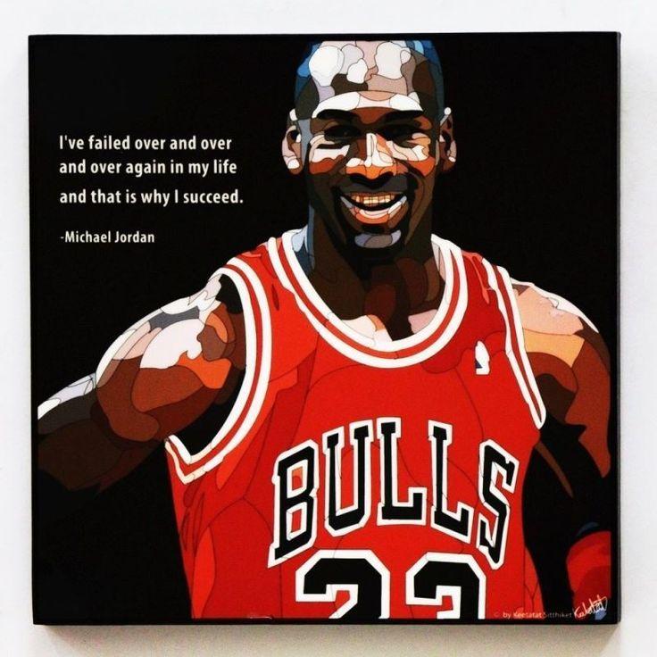 Michael Jordan Canvas Wall Painting Art Pop Photo Poster Framed Decals Quotes #ArtDeco