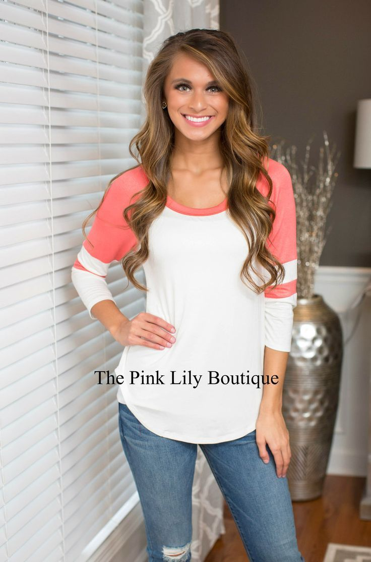 Meet Me At The Game Coral Sleeve Blouse - The Pink Lily Boutique