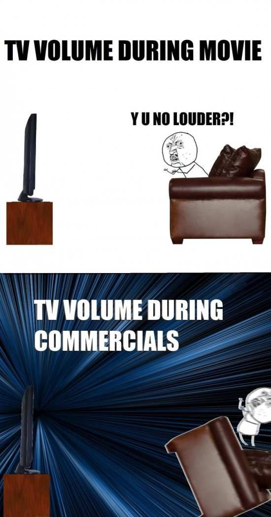Y U NO Guy, Why You No Guy, Meme, Rage Comics, TV volume during movie y u no louder