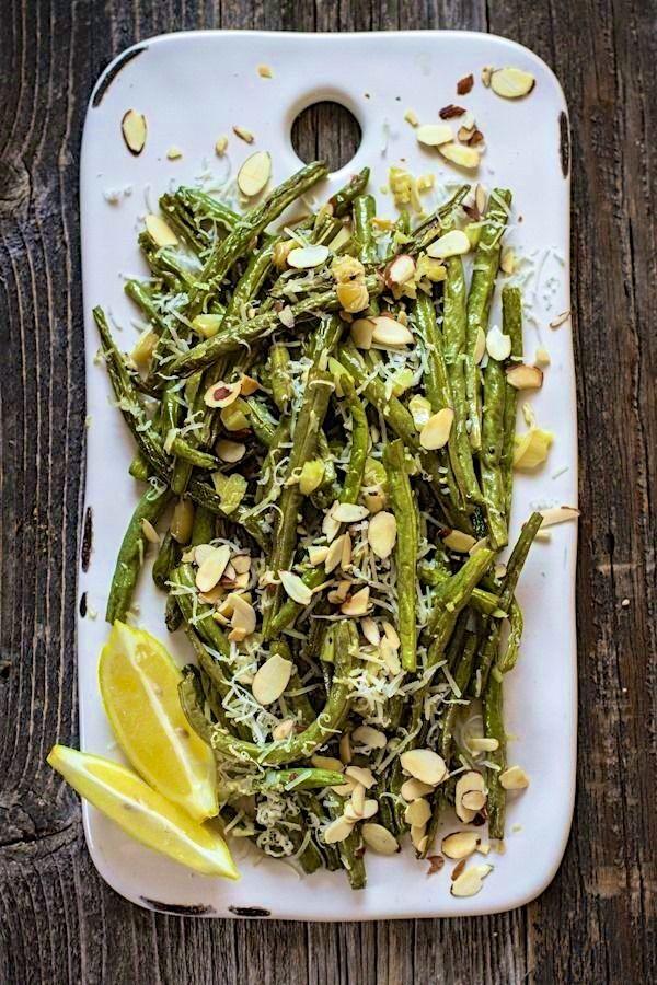 Roasted Garlic Green Beans with Lemon & Parmesan | #glutenfree # ...