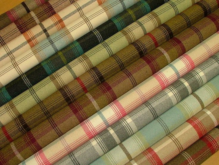 Wool Effect Washable Thick Tartan Plaid Upholstery & Curtain Designer Fabric
