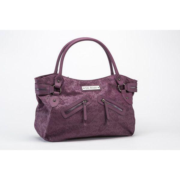GG Rose Sugar Skulls Handbag in Orchid Rock Rebel ❤ liked on Polyvore featuring bags, handbags, shoulder bags, purple handbags, purple purse, handbags shoulder bags, skull handbag and vegan purses