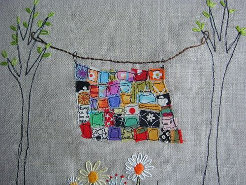 Rainbow quilt WIP
