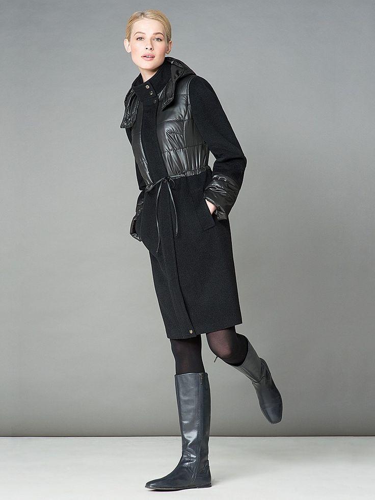 Женское стеганое пальто 2017 (100 фото): стильные фасоны, с капюшоном