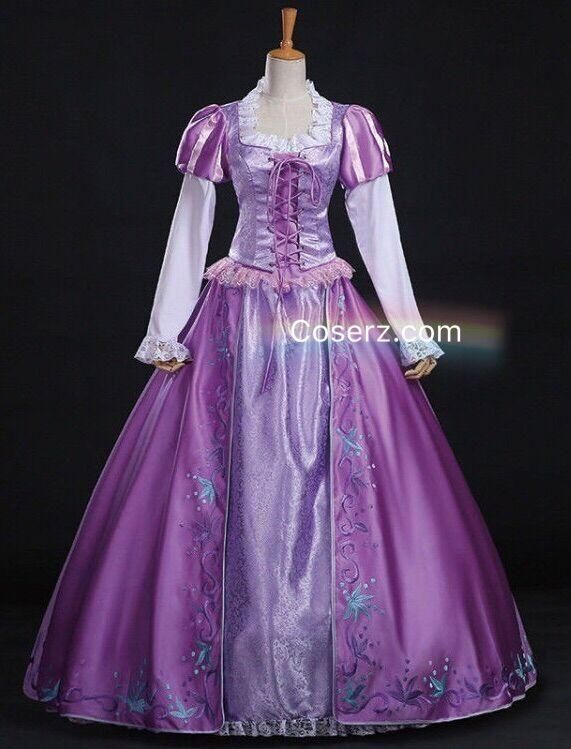 3ab2d5d2e Tangled Rapunzel Dress, Princess Rapunzel Cosplay Costume for Adult Women