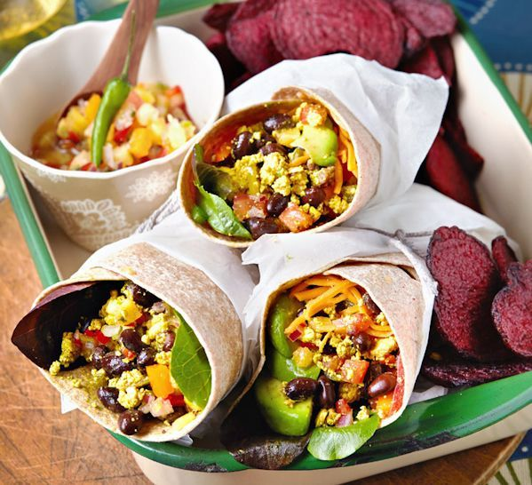 Breakfast burritos from Vegan Slow Cooking for 2 - wouldn't this be nice to wake up to in the morning?