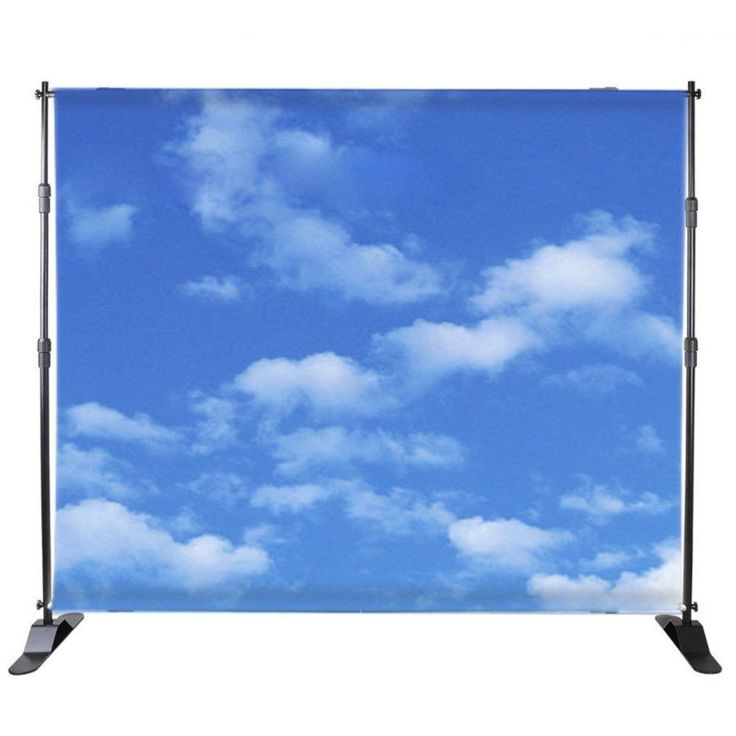 BANNER STAND TELESCOPIC SHOW 8'x 8' TO 10' x 8' BACKDROP CARRY INDUSTRY SUPPLY