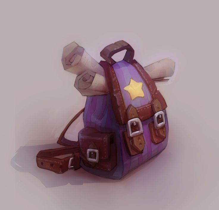 ArtStation - Magical Backpack, Veronika Firsova