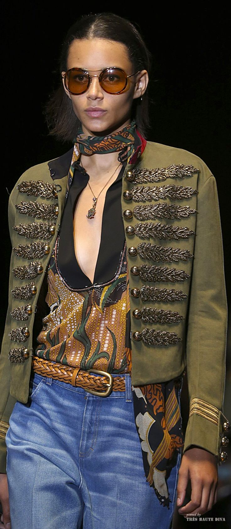 #MFW Gucci Spring Summer 2015 RTW - Pin courtesy of Tres Haute Diva.