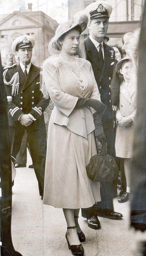 Queen Elizabeth II and the Duke of Edinburgh arriving at Epsom racecourse