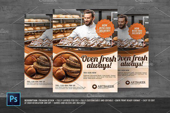 Bakery Store Flyer @creativework247