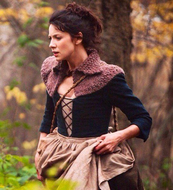 Outlander Capelet tricoté Claire Cape de par OliveandArrowKnits