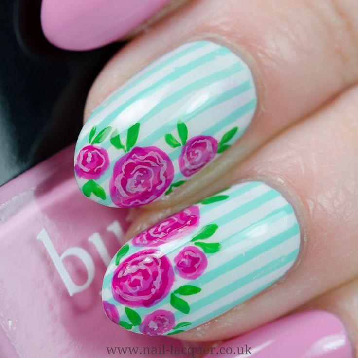 25 bezaubernde vintage rose nails ideen auf pinterest rosarote vintage rose nail art 5 prinsesfo Gallery