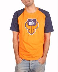 FC Goa -  Orange Round Neck Men #Goa #TheFanStore #ISL #India #football #sports #Tshirt #gaon #Goa #IndianFootball #Orange #Blue