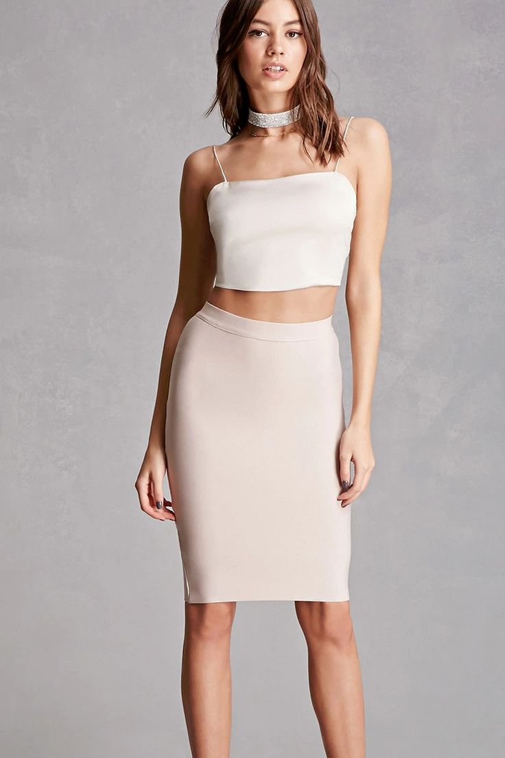 A micro-ribbed knit skirt featuring a bodycon silhouette and an invisible back zipper. This is an independent brand and not a Forever 21 branded item.