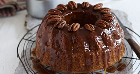 This Bbanana Pecan and Maple Syrup Cake is the perfect fit for any Canada Day celebration! http://gustotv.com/recipes/dessert/banana-pecan-maple-syrup-cake/