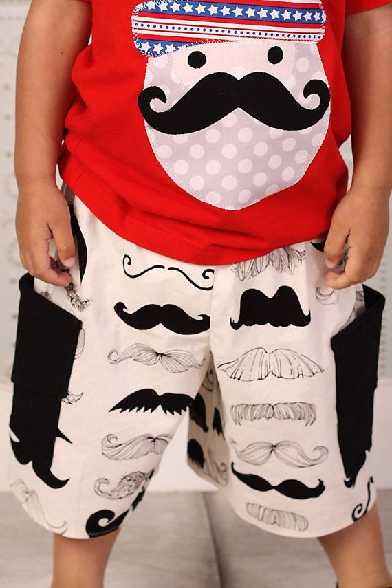 MUSTACHE Baby and Toddler BOYS Cargo SHORTS  6 Months to 5/6