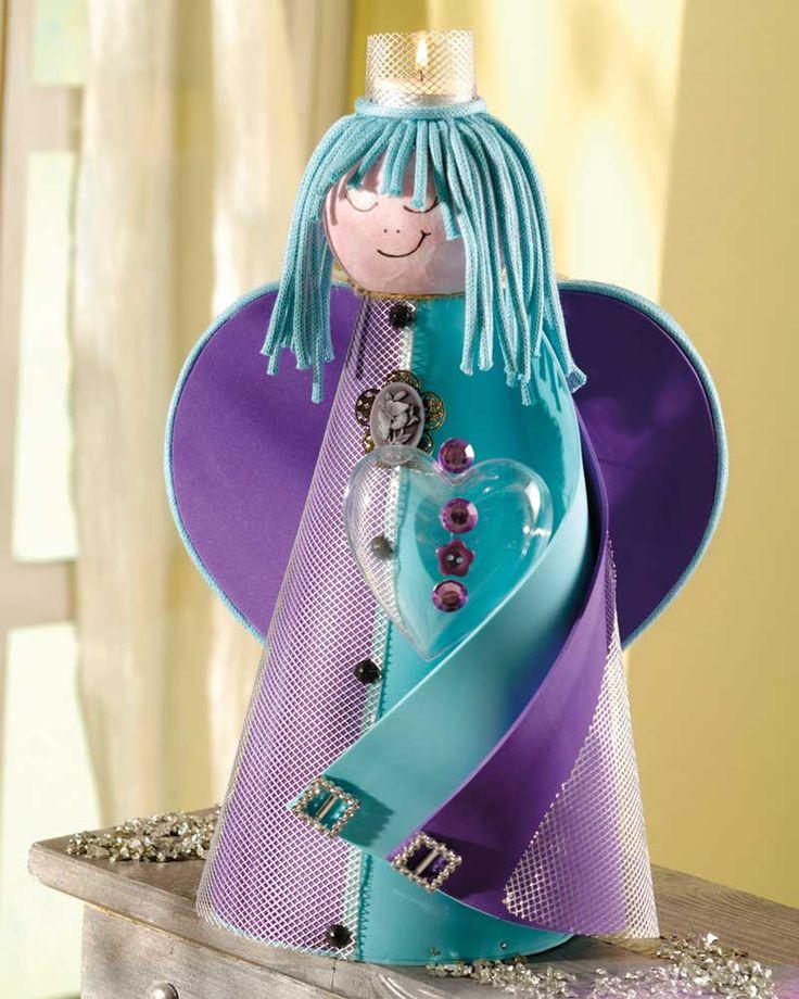 """Ein Engel für alle Fälle  (Idee mit Anleitung – Klick auf """"Besuchen""""!) - Die Mama ist der Engel für die Familie und zum Muttertag bekommt sie dieses Mal einen geschenkt."""