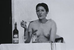 """For seven nights, starting on November 9, 2005, for seven hours each day, Marina Abramovic's performance """"Seven Easy Pieces"""" was held at the Guggenheim Museum."""