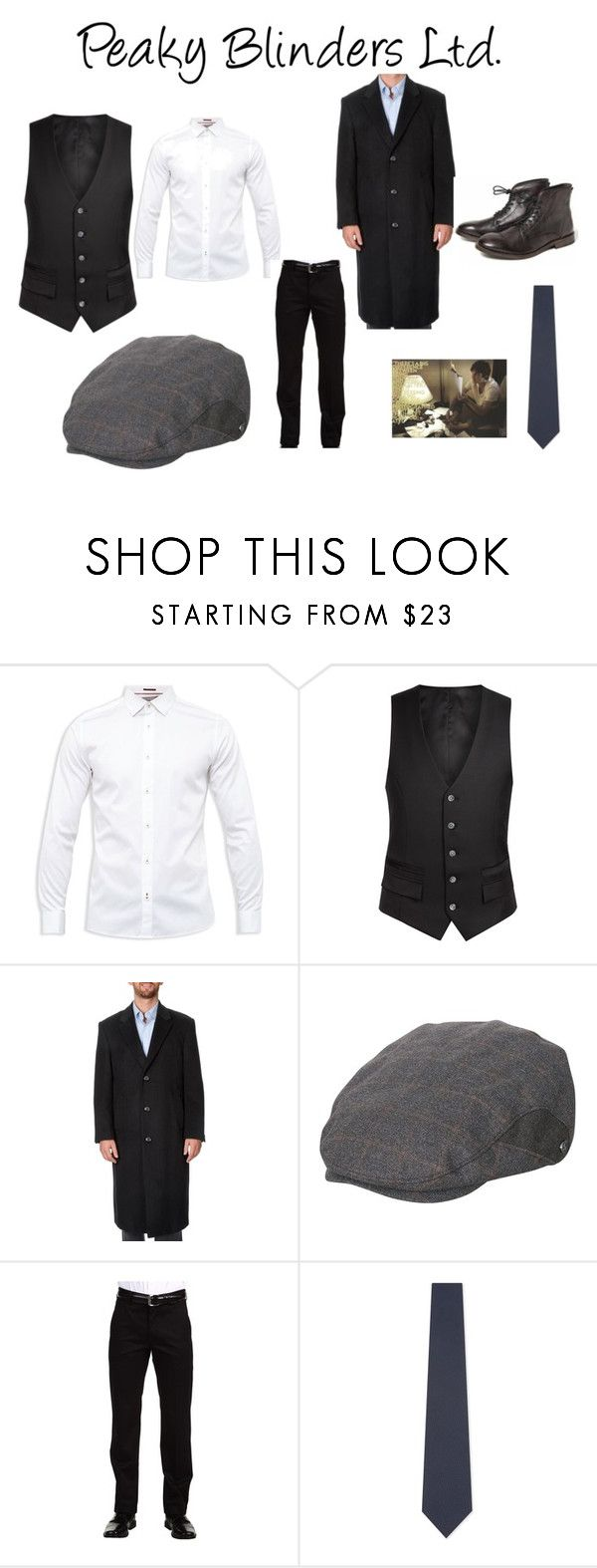 """""""Peaky Blinders Ltd."""" by aesthetickpoptrash on Polyvore featuring Ted Baker, Diverso, Pronto Moda, Dockers, BOSS Hugo Boss, Murphy, men's fashion and menswear"""