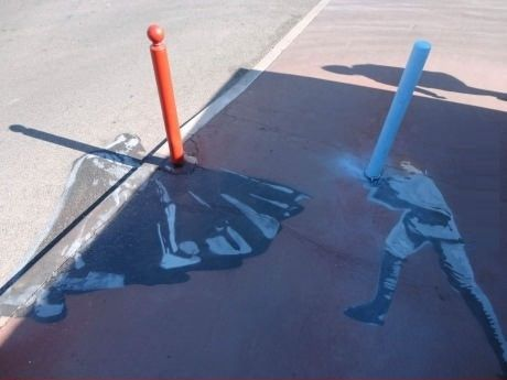 #Starwars #StreetArt: father & son comparing poles.. . Maypole the force be with you #Vader #skywalker #