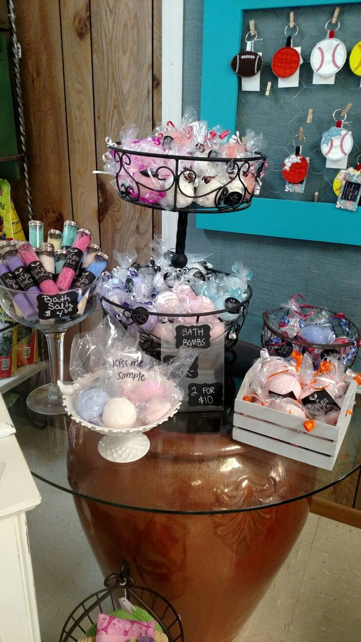 Bath Bomb Display At Yours And Vine In Hamburg Ar Gift