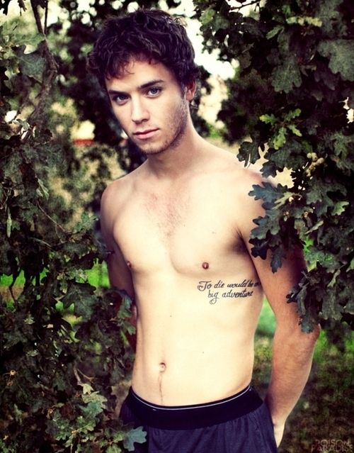 He even has a Peter Pan quote as a tattoo. | Peter Pan's Jeremy Sumpter Finally Grew Up (And Got Really Hot)