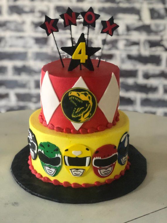 Power Rangers Cake Fondant Cake Topper Power Ranger Cake