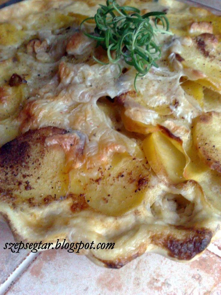 Tejszínben sült krumpli - köret