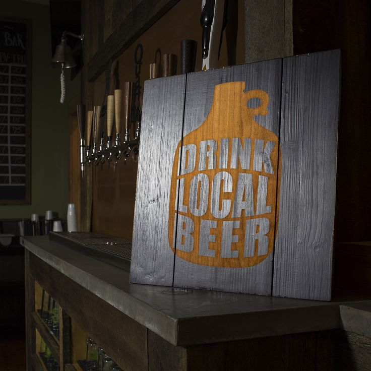 Drink Local Growler Sign
